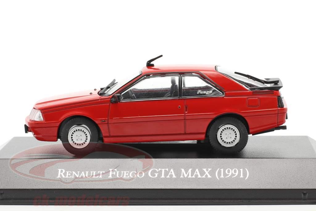 Renault Fuego GTA MAX Bouwjaar 1991 rood 1:43 Altaya