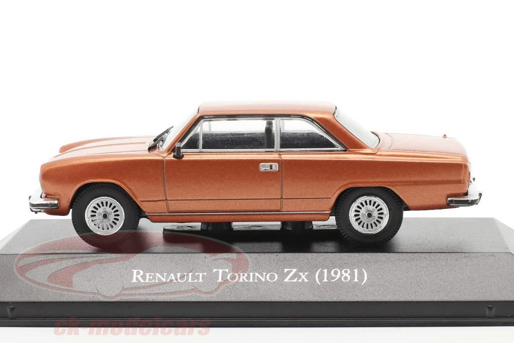 Renault Torino Zx Ano de construção 1981 Castanho metálico 1:43 Altaya