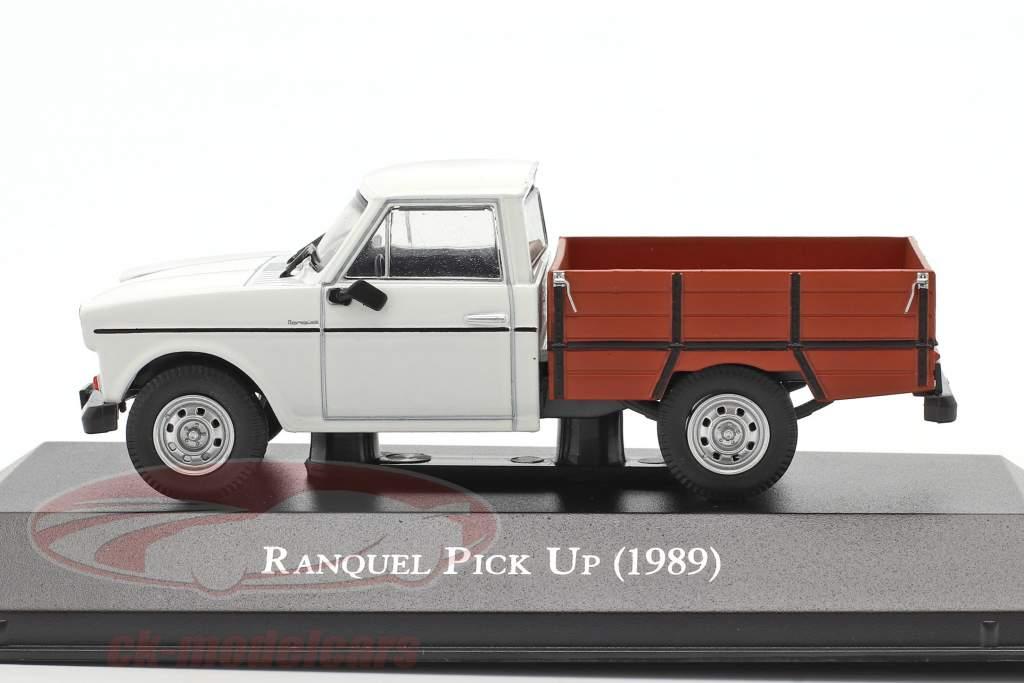 Renault Ranquel Pick-Up Anno di costruzione 1989 bianca / Marrone 1:43 Altaya