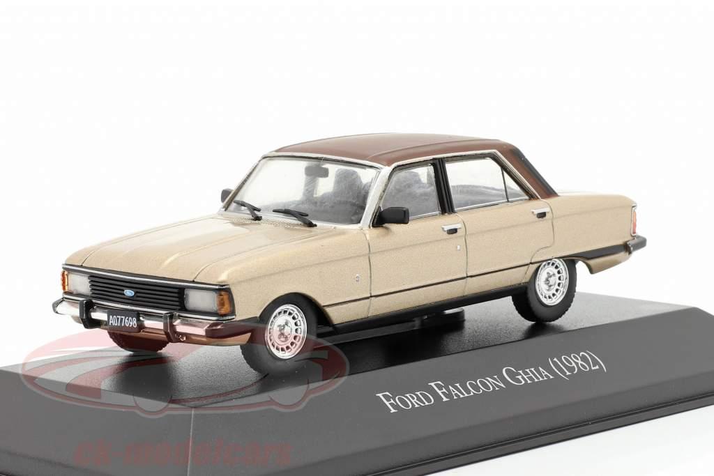 Ford Falcon Ghia Año de construcción 1982 beige metálico / marrón 1:43 Altaya