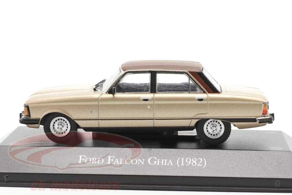 Ford Falcon Ghia Année de construction 1982 beige métallique / marron 1:43 Altaya