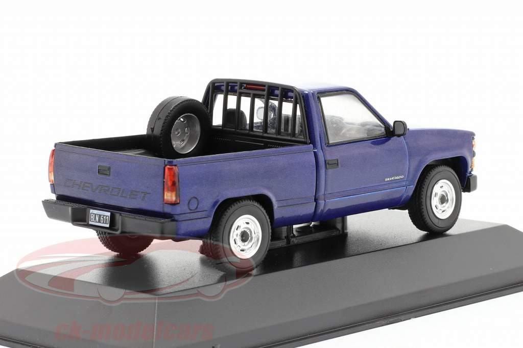 Chevrolet Silverado Anno di costruzione 1997 blu 1:43 Altaya