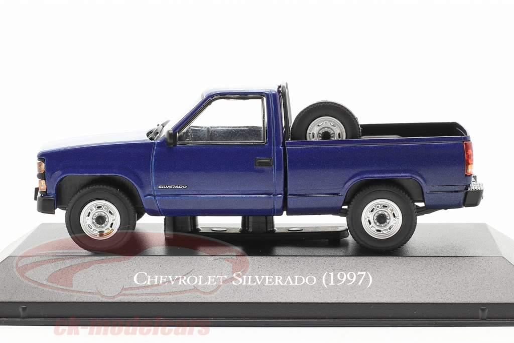 Chevrolet Silverado Ano de construção 1997 azul 1:43 Altaya
