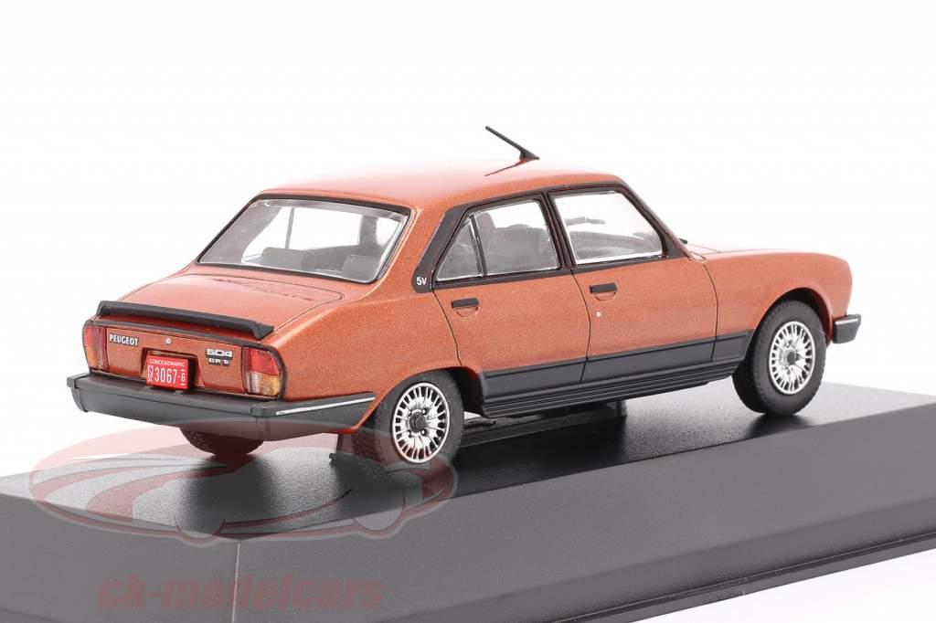 Peugeot 504 GR TN Anno di costruzione 1985 rame metallico 1:43 Altaya