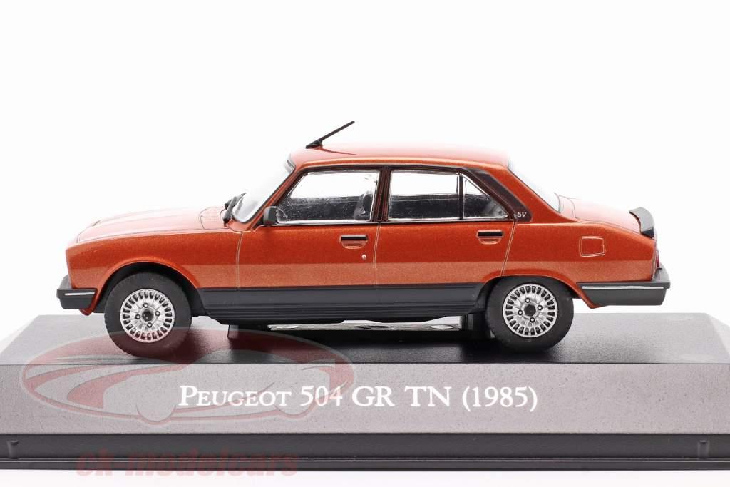 Peugeot 504 GR TN Année de construction 1985 cuivre métallique 1:43 Altaya