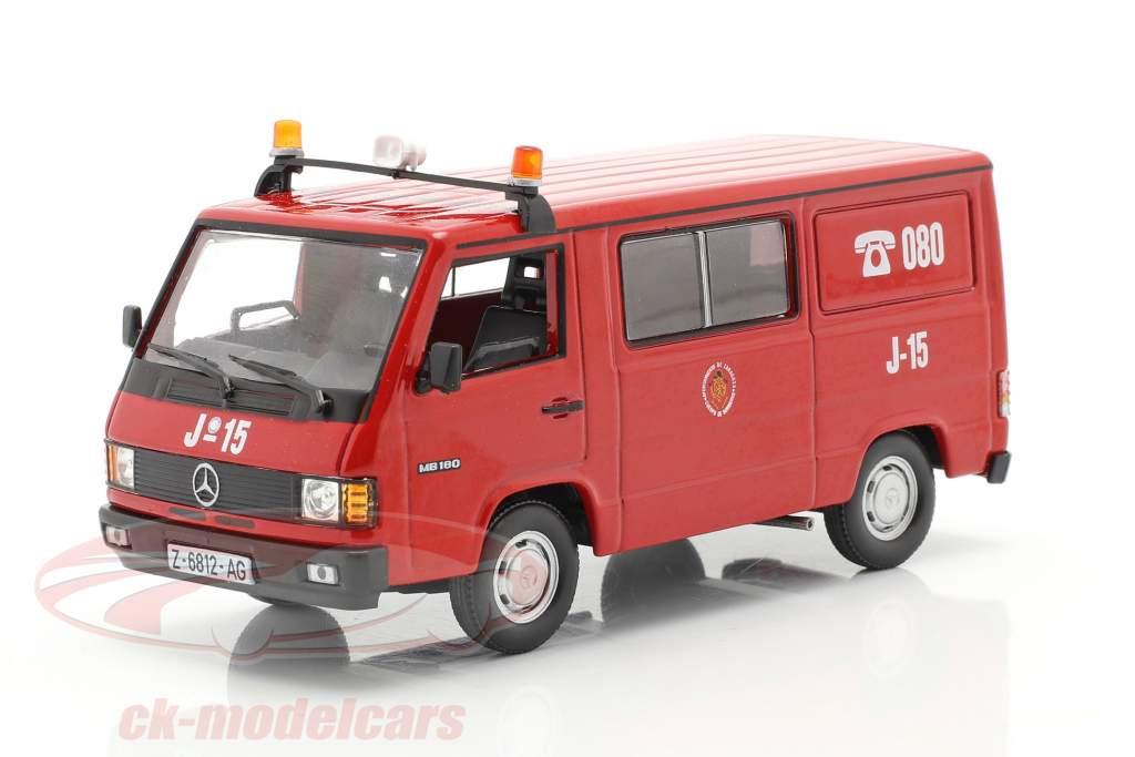 Mercedes-Benz MB180 pompiers Saragosse rouge 1:43 Altaya