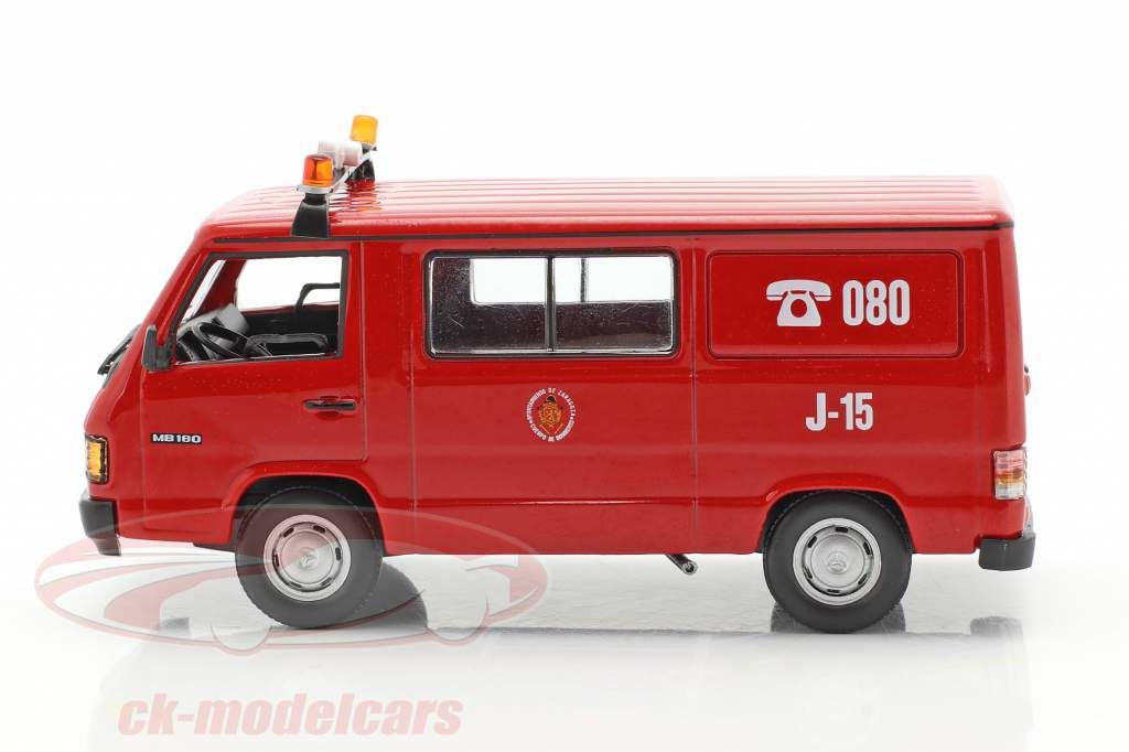 Mercedes-Benz MB180 cuerpo de Bomberos Zaragoza rojo 1:43 Altaya