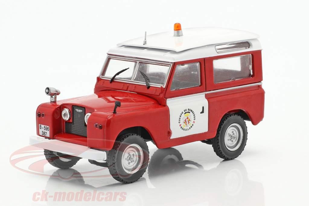 Land Rover II Brandvæsen Barcelona rød / hvid 1:43 Altaya