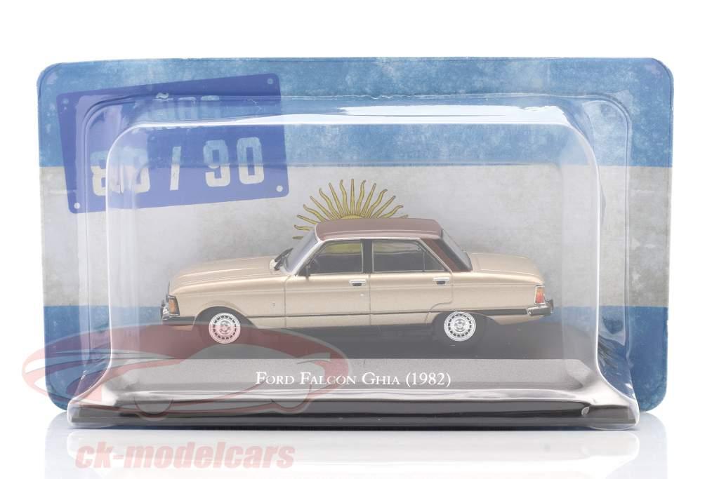 Ford Falcon Ghia Bouwjaar 1982 beige metalen / bruin 1:43 Altaya