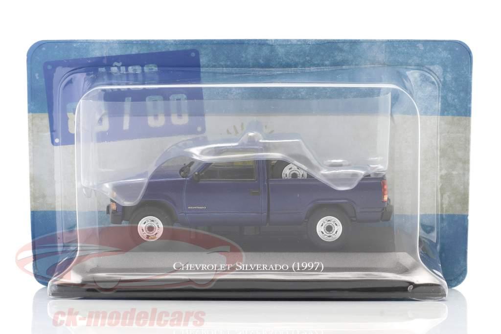 Chevrolet Silverado Baujahr 1997 blau 1:43 Altaya