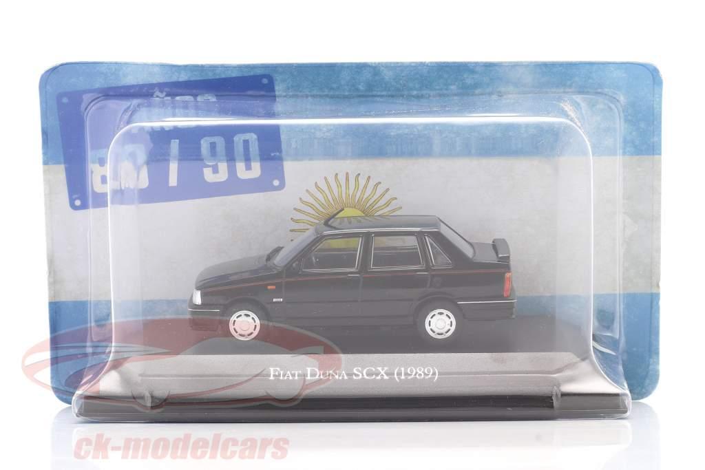 Fiat Duna SCX year 1989 black 1:43 Altaya