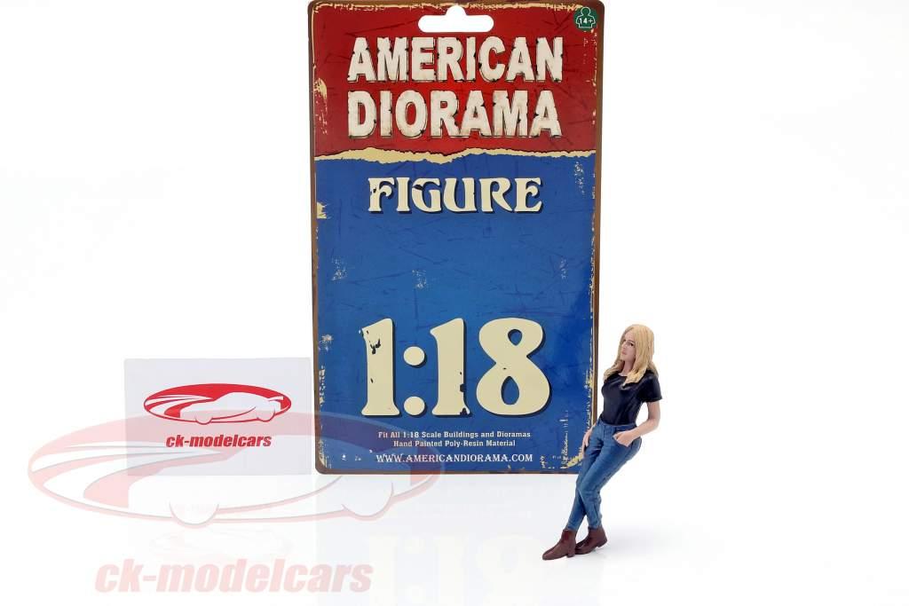 Car Girl Rachel figure 1:18 American Diorama
