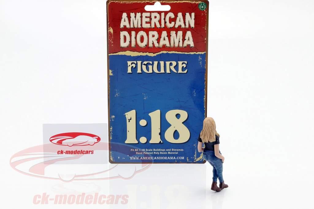 Car Girl Rachel figura 1:18 American Diorama