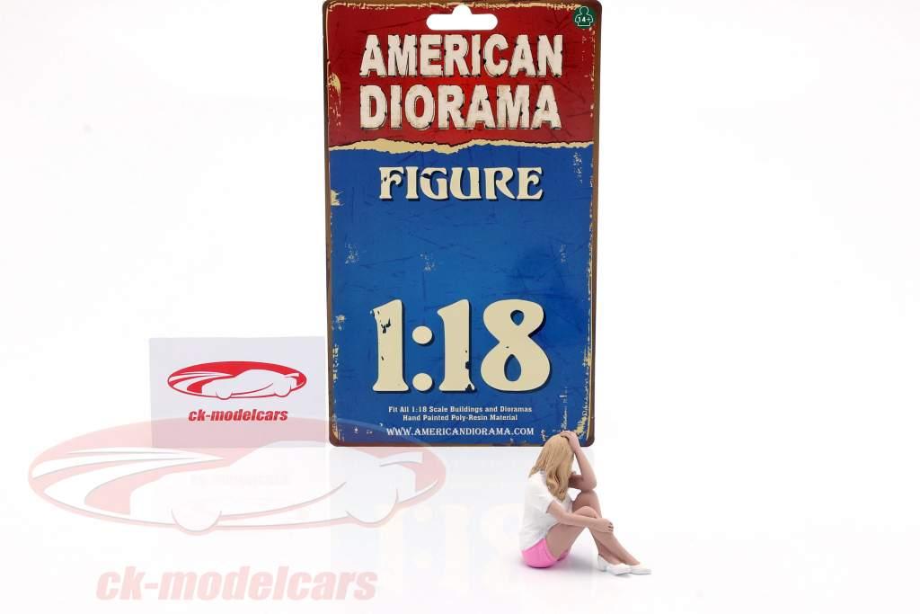 Car Girl Madee Figur 1:18 American Diorama