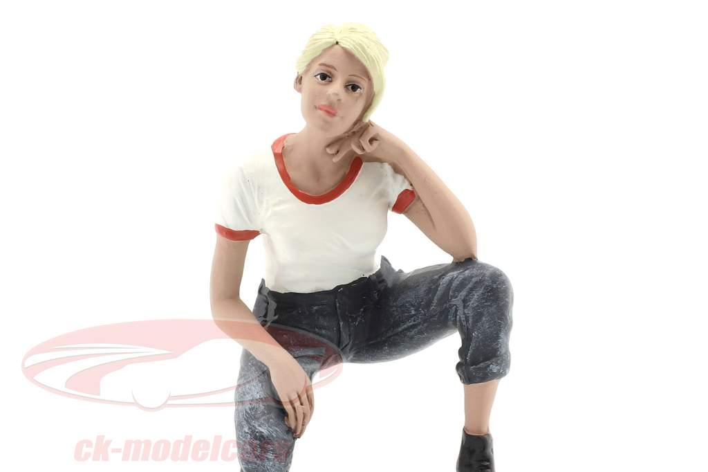 Car Girl Michelle figur 1:18 American Diorama