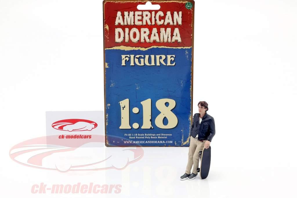 Skateboarder figura #3 1:18 American Diorama