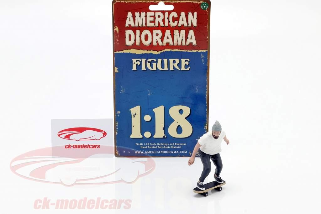 Skateboarder figuur #2 1:18 American Diorama