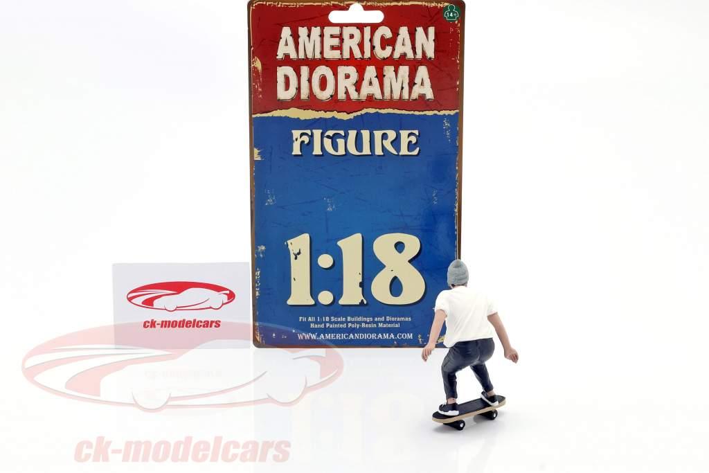 Skateboarder figure #2 1:18 American Diorama