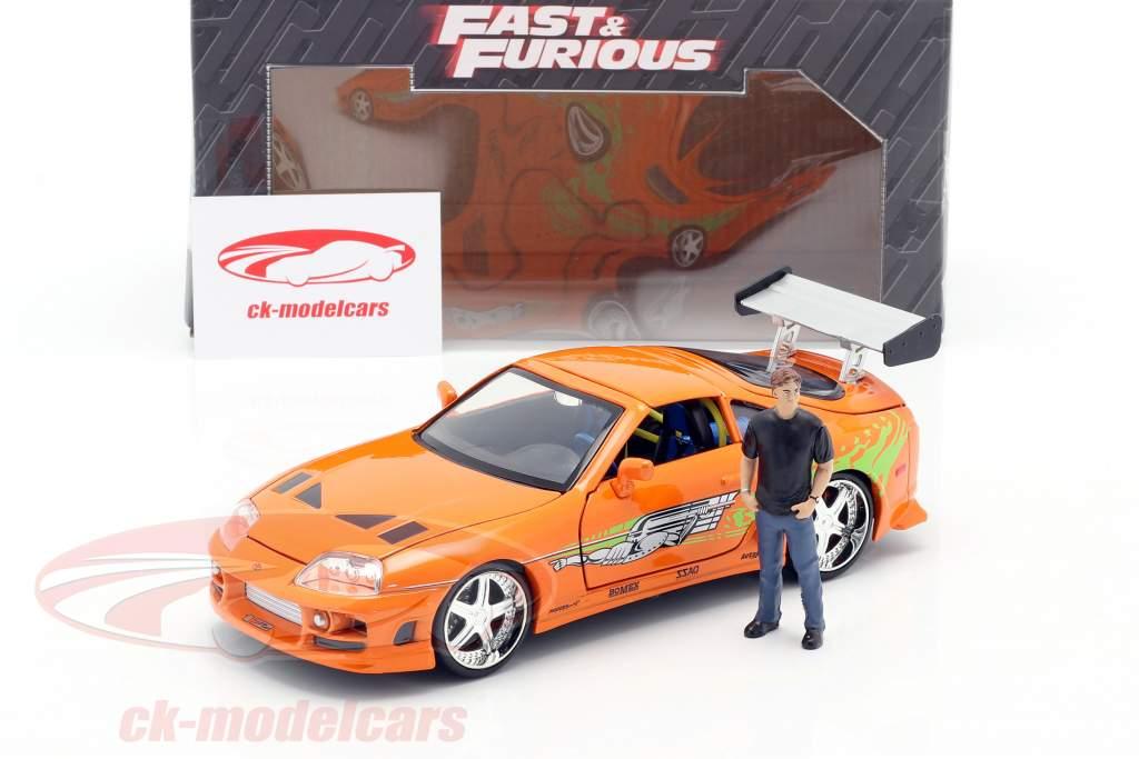 Brian's Toyota Supra 1995 film Fast & Furious (2001) med figur 1:24 Jada Toys