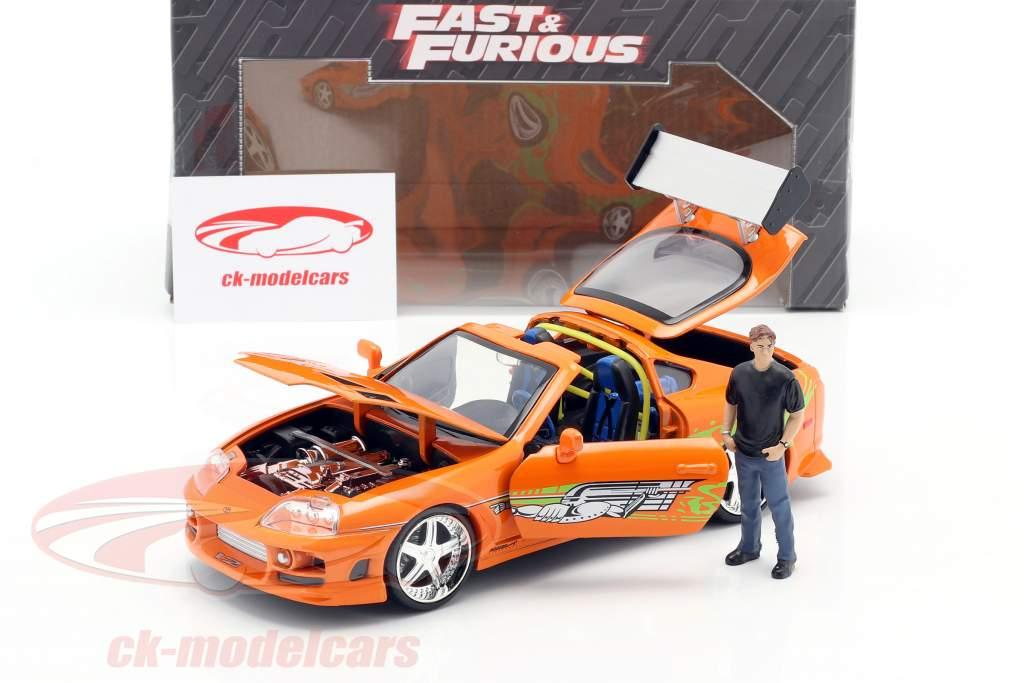 Brian's Toyota Supra 1995 フィルム Fast & Furious (2001) とともに フィギュア 1:24 Jada Toys