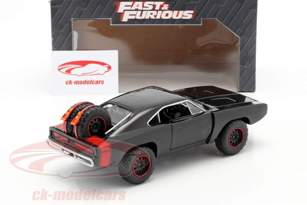Dodge Charger R/T Offroad Jaar 1970 Fast and Furious 7 zwart 1:24 Jada Toys