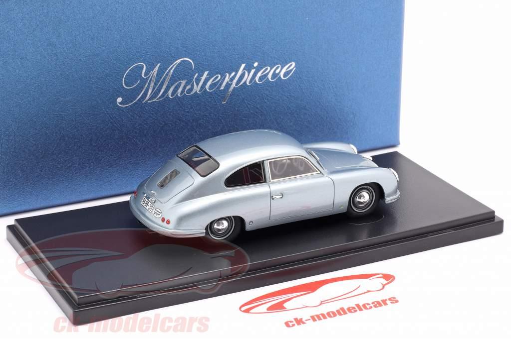 Lindner Porsche prototipo Anno di costruzione 1953 blu argento 1:43 AutoCult