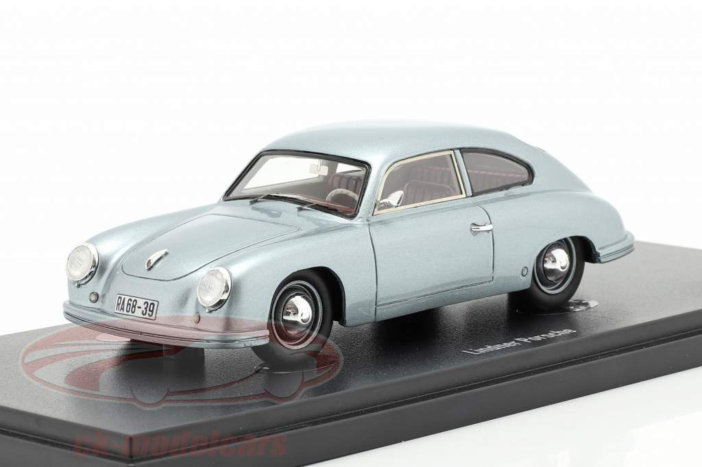 Lindner Porsche prototype Byggeår 1953 sølvblå 1:43 AutoCult