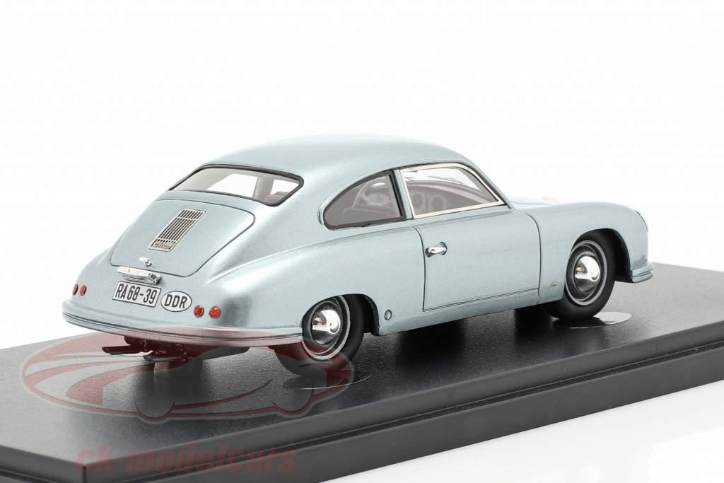 Lindner Porsche prototipo Año de construcción 1953 azul plateado 1:43 AutoCult