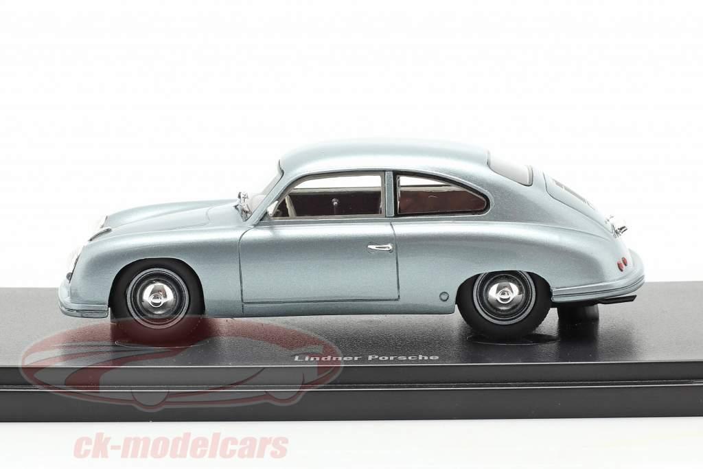 Lindner Porsche Prototyp Baujahr 1953 silber-blau 1:43 AutoCult