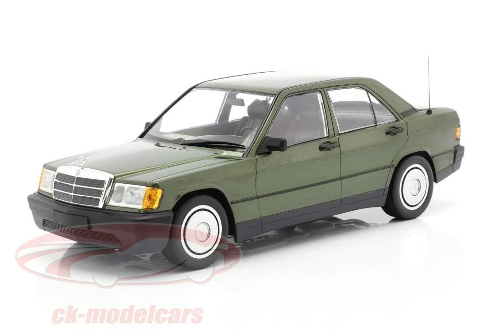 Mercedes-Benz 190E (W201) Anno di costruzione 1982 verde metallico 1:18 Minichamps