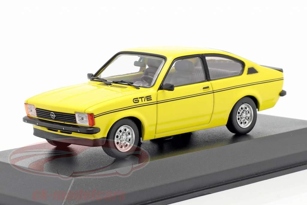Opel Kadett C GT/E Byggeår 1978 gul 1:43 Minichamps