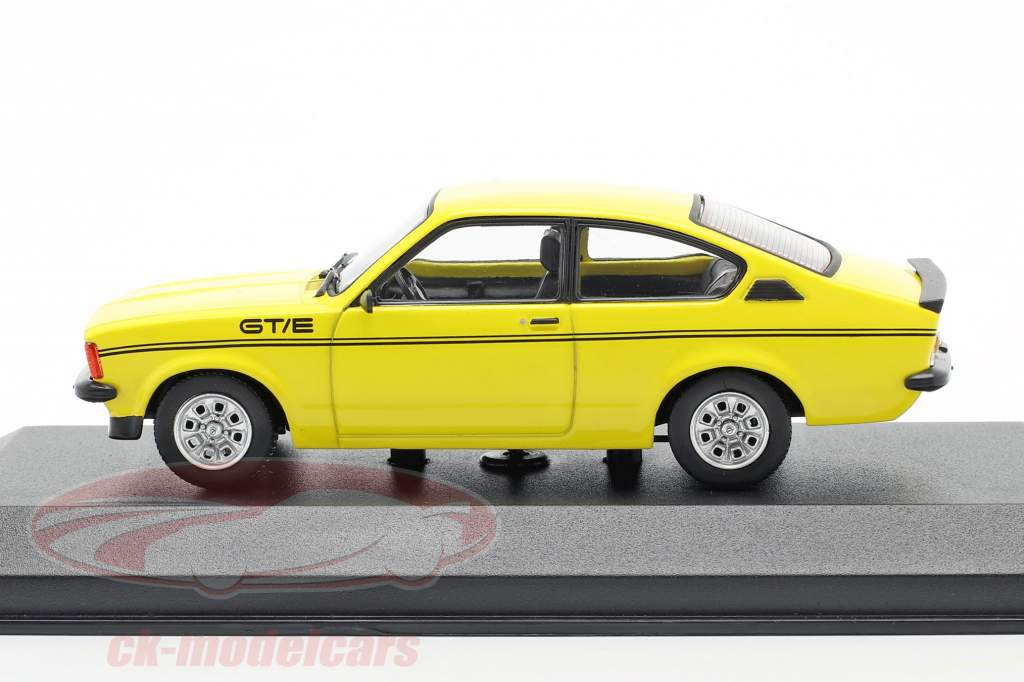 Opel Kadett C GT/E Anno di costruzione 1978 giallo 1:43 Minichamps