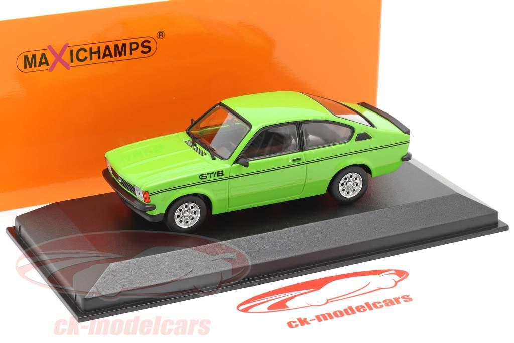 Opel Kadett C GT/E Bouwjaar 1978 groen 1:43 Minichamps