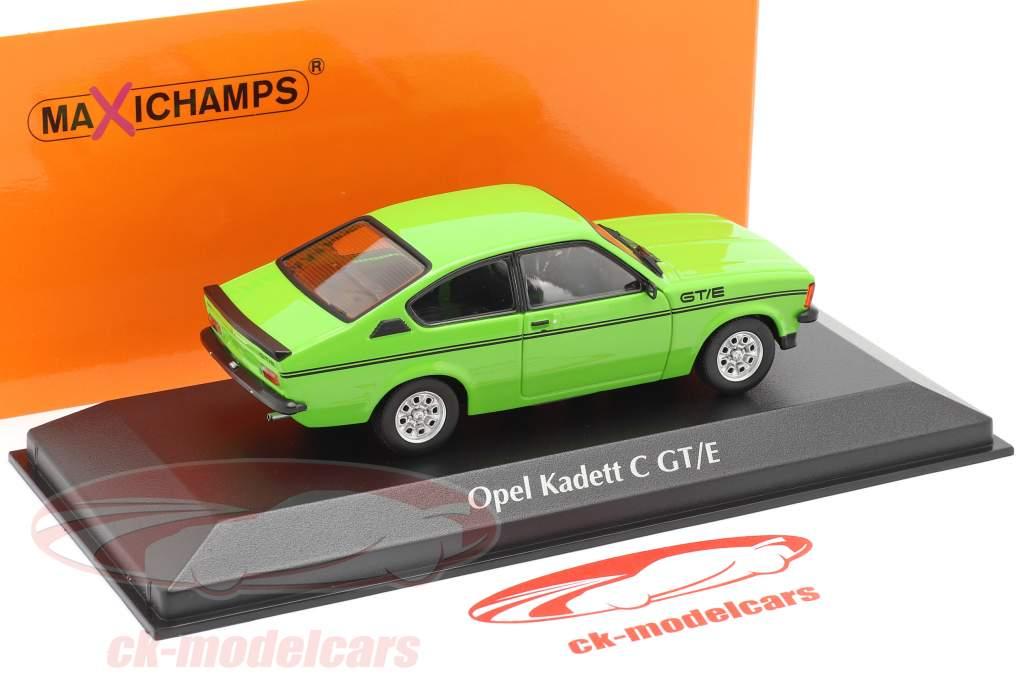Opel Kadett C GT/E Ano de construção 1978 verde 1:43 Minichamps