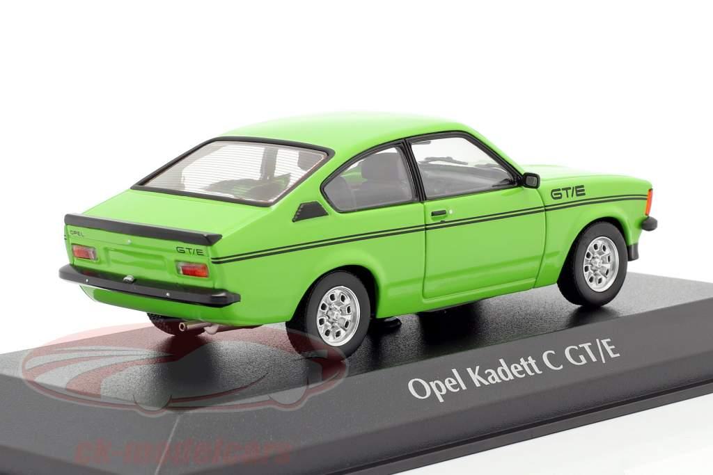 Opel Kadett C GT/E Année de construction 1978 vert 1:43 Minichamps