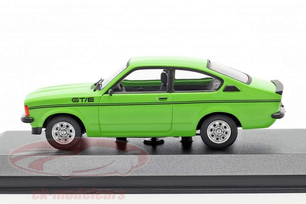 Opel Kadett C GT/E Anno di costruzione 1978 verde 1:43 Minichamps