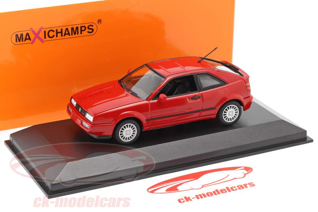 Volkswagen VW Corrado G60 year 1990 red 1:43 Minichamps