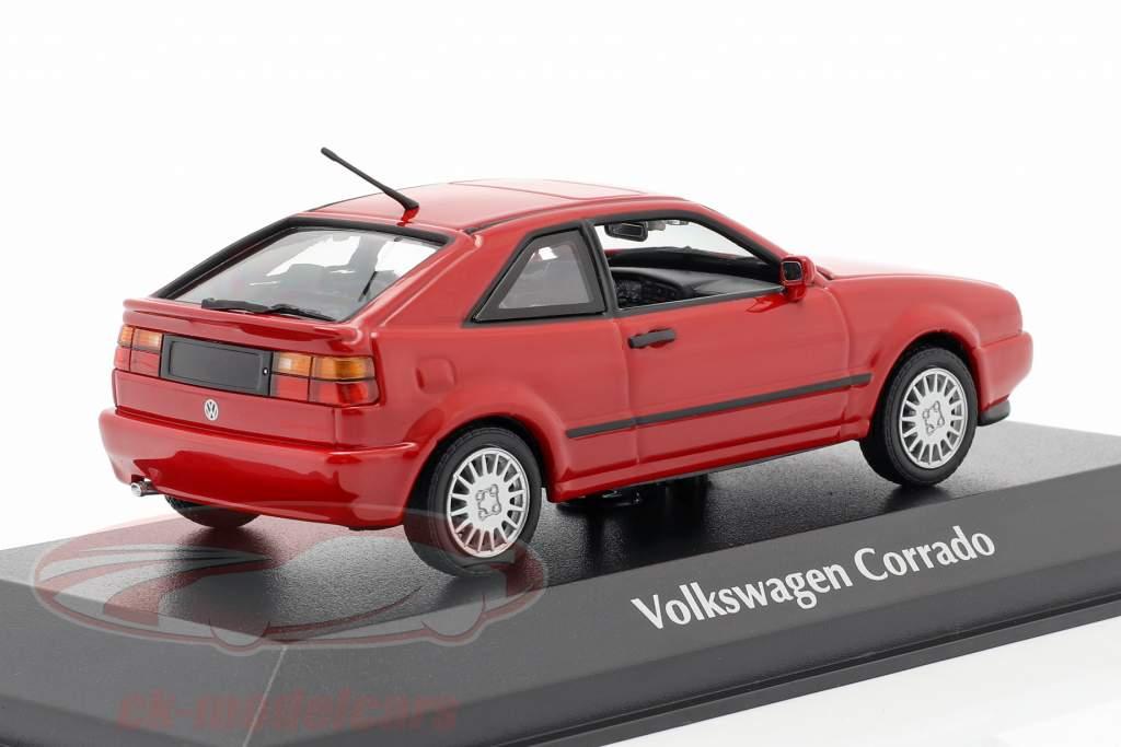 Volkswagen VW Corrado G60 Año de construcción 1990 rojo 1:43 Minichamps