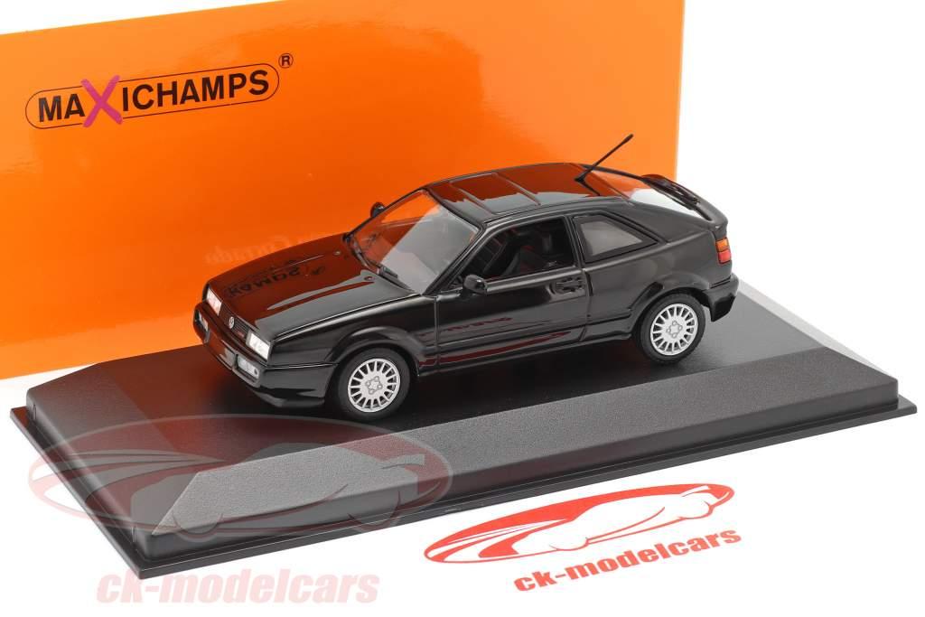 Volkswagen VW Corrado G60 Année de construction 1990 noir 1:43 Minichamps