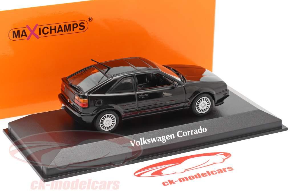 Volkswagen VW Corrado G60 Año de construcción 1990 negro 1:43 Minichamps