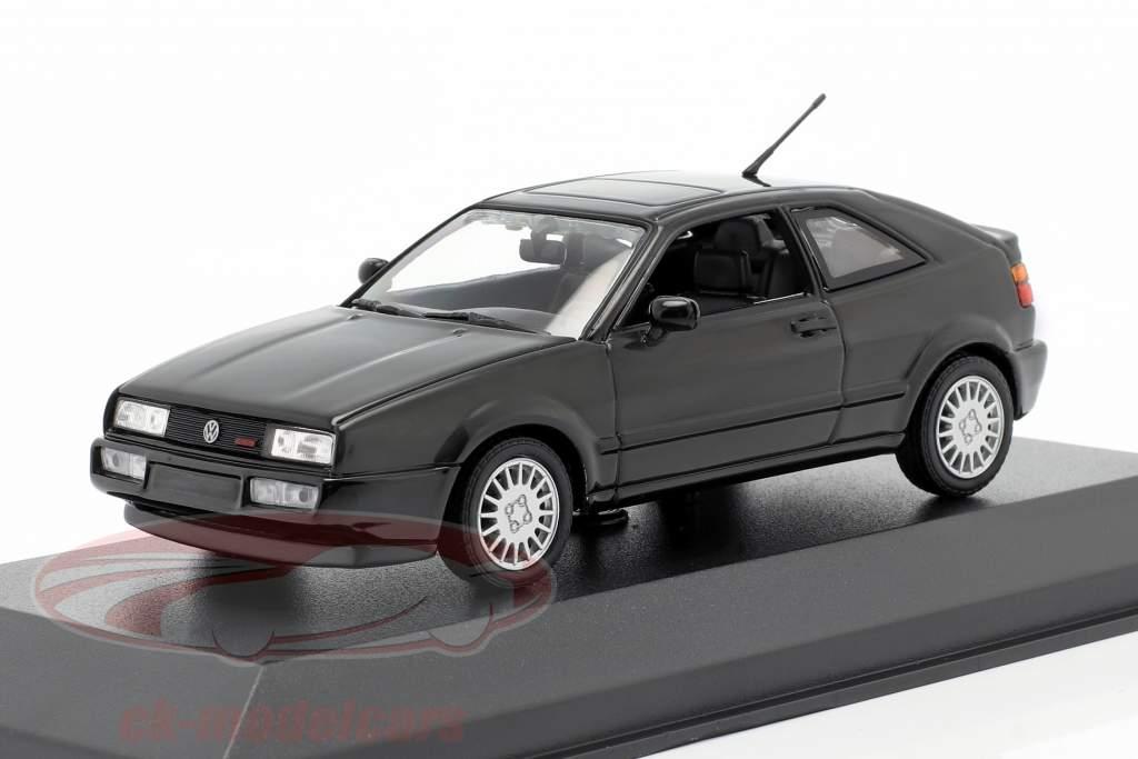 Volkswagen VW Corrado G60 Byggeår 1990 sort 1:43 Minichamps