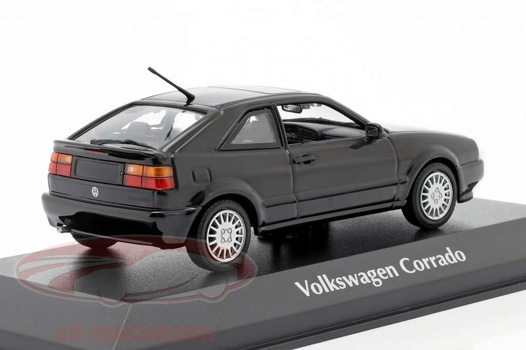 Volkswagen VW Corrado G60 Bouwjaar 1990 zwart 1:43 Minichamps