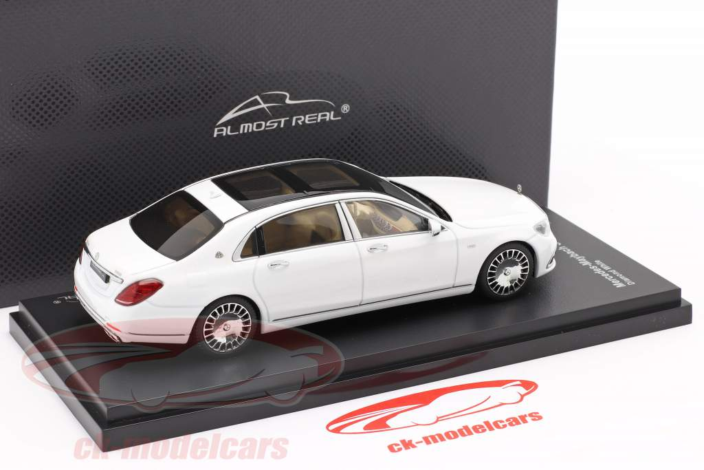 Mercedes-Maybach S class year 2019 diamond white 1:43 Almost Real