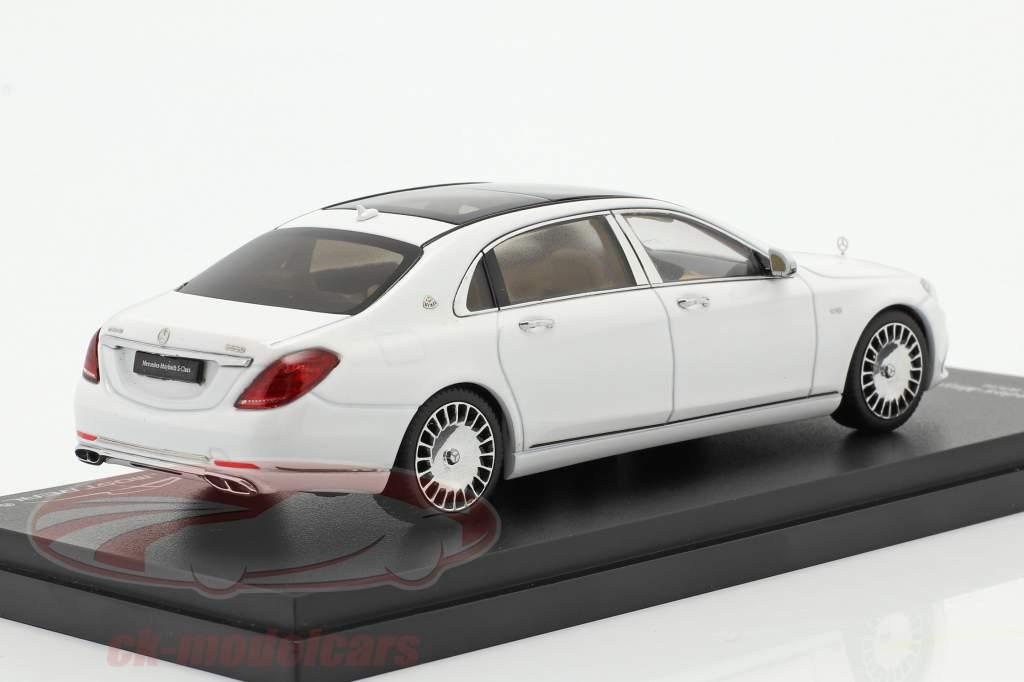 Mercedes-Maybach Classe S. Anno di costruzione 2019 diamante bianca 1:43 Almost Real