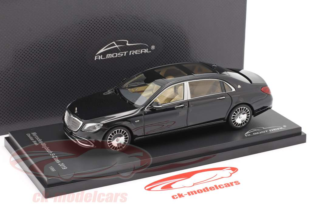 Mercedes-Maybach Clase S 2019 obsidiana negro 1:43 Almost Real
