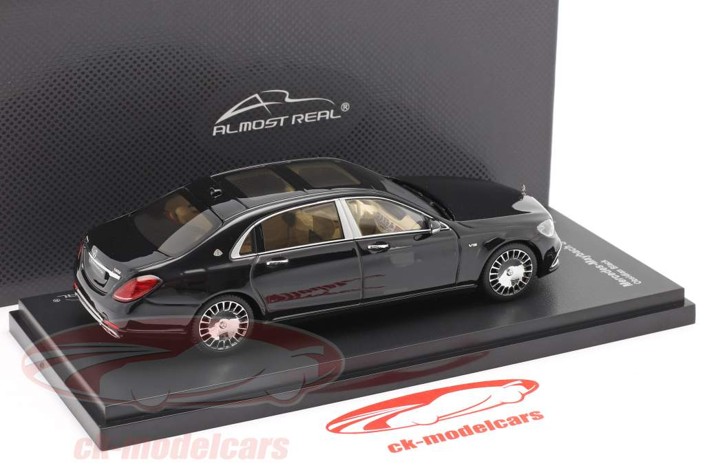 Mercedes-Maybach S class 2019 obsidian black 1:43 Almost Real