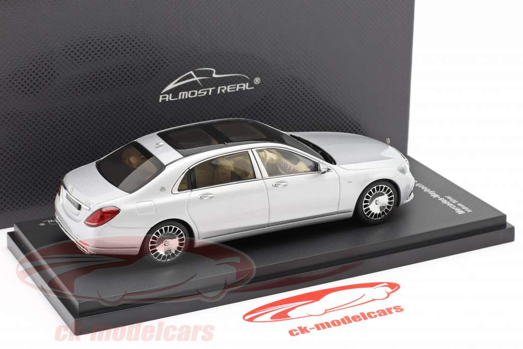 Mercedes-Maybach S class 2019 iridium silver 1:43 Almost Real