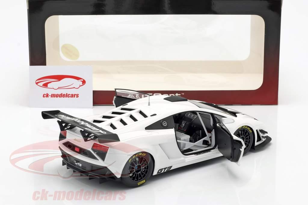 Lamborghini Gallardo GT3 FL2 Jaar 2013 wit 1:18 AUTOart