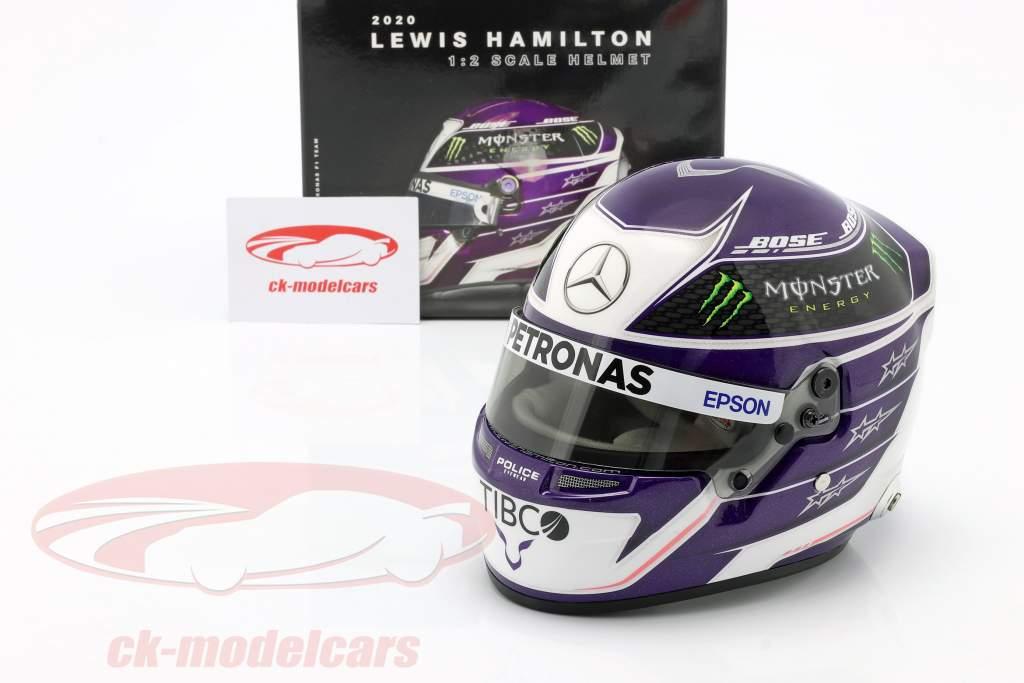 Lewis Hamilton #44 Mercedes-AMG Petronas Formel 1 2020 Helm 1:2