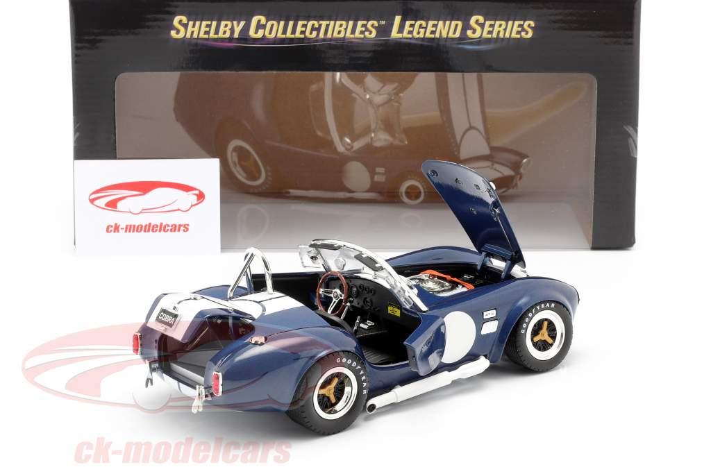Shelby Cobra 427 S/C Año de construcción 1965 azul / Blanco 1:18 ShelbyCollectibles